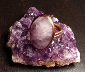 I love Purple! Amethyst & Copper Ring