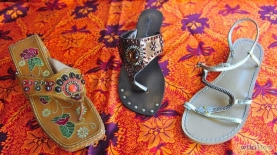 Sandals help to complete the Boho look
