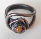 Carnelian Rose Ring 3