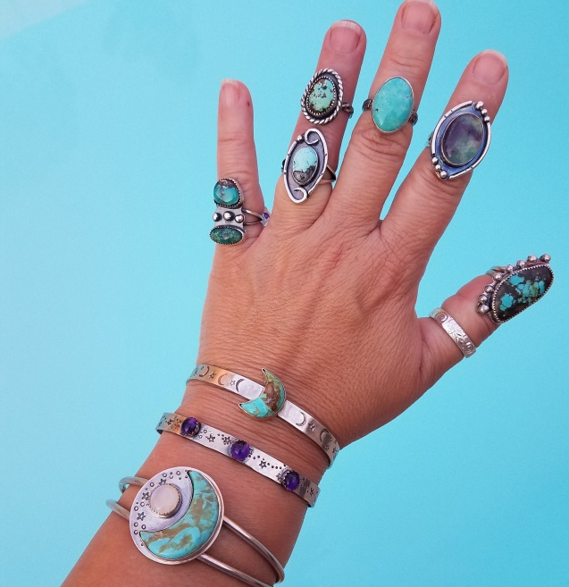 Cuffs and Rings and Turquoise Oh My by Peacock Gypsies