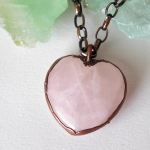 Rose Quartz Heart Pendant 1