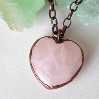 Rose Quartz Heart Pendant 1