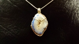 Sterling Silver and Blue Agate Pendant