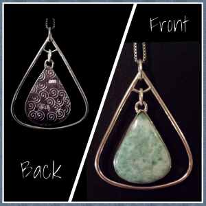 Larimar & Sterling Silver Pendant Necklace