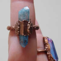 Aqua Aura Crystal Ring 4