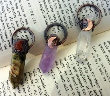Crystal Wand Pendants