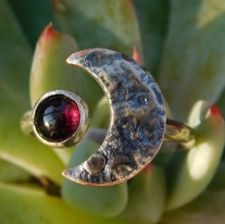 Strawberry Moon Goddess Ring