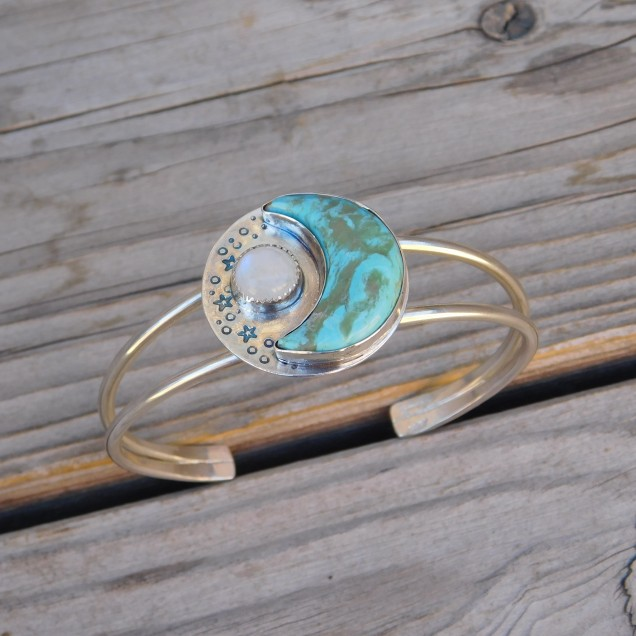 Blue Moon Turquoise Cuff