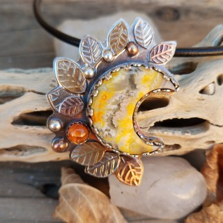 Goddess of The Harvest Moon Necklace by Peacock Gypsies